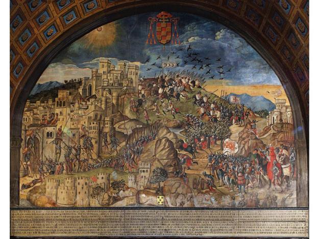 Toma de Orán por el Cardenal Cisneros. Fresco de Juan de Borgoña en el interior de la Capilla Mozárabe de la Catedral
