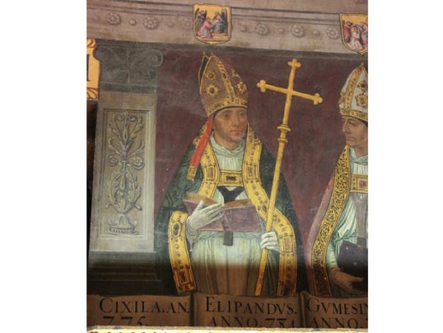 Obispo Elipando. Sala Capitular de la Catedral de Toledo