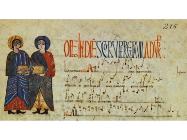 Piezas musicales para la Festividad de San Pedro y San Pablo contenidas en el Antifonario de León.